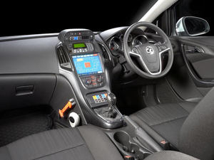 Vauxhall Astra Police Car Dashboard Interior Image