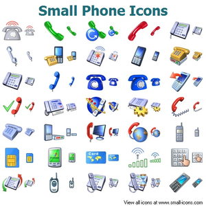 Small Phone Icons Image