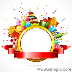 Smopic Com Free Vector Birthday Photo Frame Wreath Illustrator The Design Templates Ai Eps File To