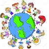Clipart Of Children Around The World Holding Hands Image