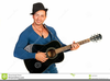 Man Playing Guitar Clipart Image