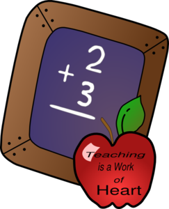 Teaching Is A Work Of The Heart Clip Art