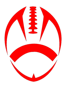 Red Football Cut Image