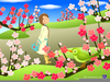 Animated Spring Flowers Clipart Image