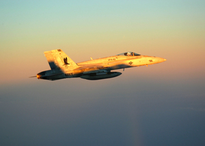 An F/a-18 Hornet Assigned To The Marauders Of Strike Fighter Squadron Eight Two (vfa 82). Image