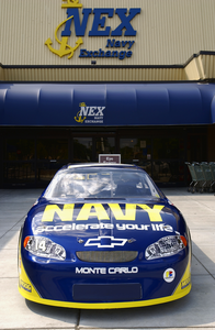 No. 14 Navy  Accelerate Your Life  Chevrolet Monte Carlo Show Car On Display Image