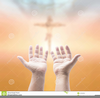 Praying Hands With Cross Clipart Image