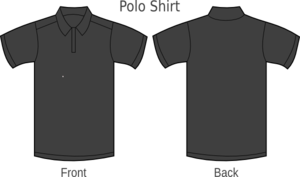 Polo Shirt Black Clip Art