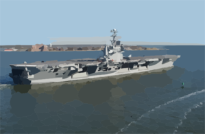 Uss George Washington (cvn 73) Sails By Fort Monroe Clip Art