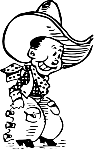 Cartoon Cowboy Clip Art