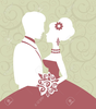 Running Bride And Groom Clipart Image