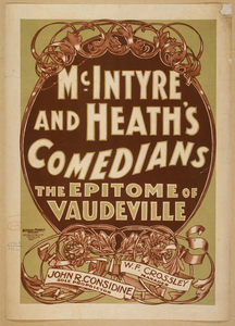 Mcintyre And Heath S Comedians The Epitome Of Vaudeville. Image