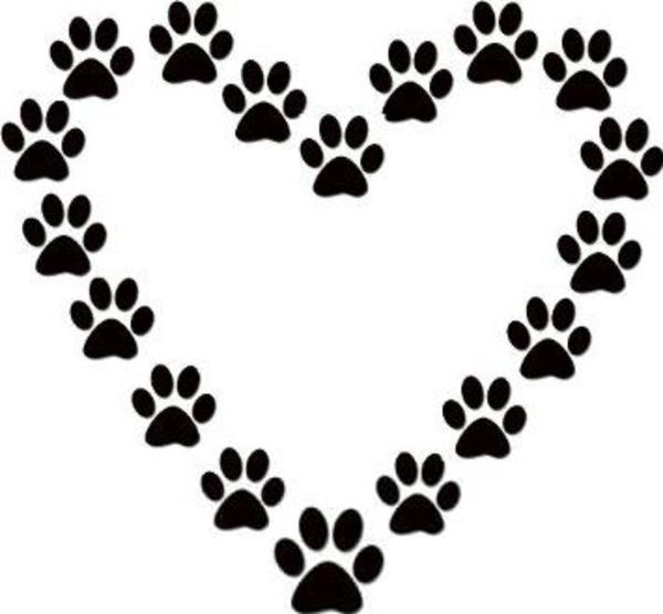 free dog paw print clipart free images at clker com vector clip rh clker com Blue Small Dog Paw Print Clip Art Blue Small Dog Paw Print Clip Art