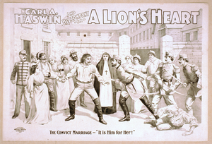 Carl A. Haswin And His Company In A Lion S Heart Image