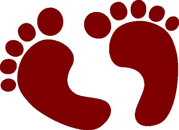 baby feet clip art at clker com vector clip art online royalty rh clker com clipart football player silhouette clipart feet hurting