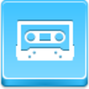 Free Blue Button Icons Cassette Image