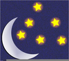 Moon And Stars Clipart Free Image