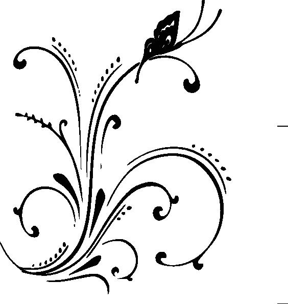 Purple Butterfly Scroll Clip Art At Clker Com: Butterfly Scroll Sans Shadow Clip Art At Clker.com