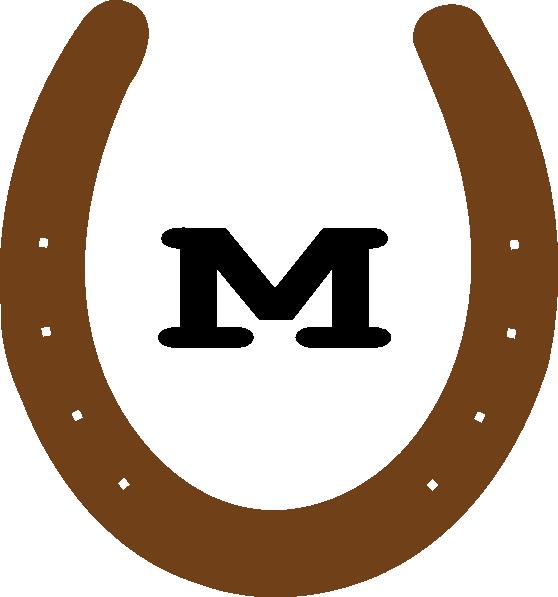Brown M Horseshoe Clip Art at Clker.com - vector clip art online ...