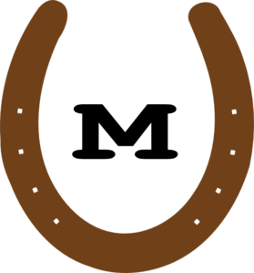 brown m horseshoe clip art at clker com vector clip art online rh clker com clip art horseshoes free horseshoe clipart vector