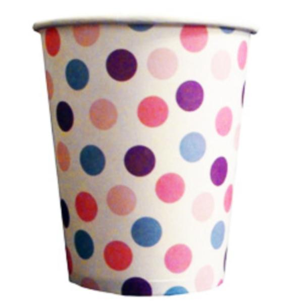 polka dot paper cups main free images at clkercom