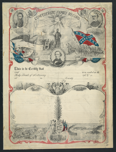 Confederate Family Record Image
