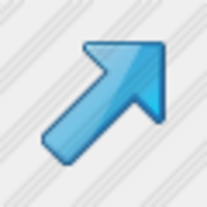 Icon Arrow Right Up Blue 1 Image