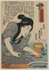 Lady Cooking Fish Food Image