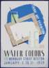 Federal Art Exhibition Wpa Water Colors. Clip Art