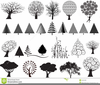Trees Illustrated Clipart Image