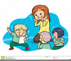 Children In A Group Clipart Image