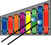 Xylophone Colourful Clip Art