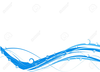 Blue Swirl Clipart Image