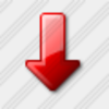Icon Arrow Down Red 5 Image