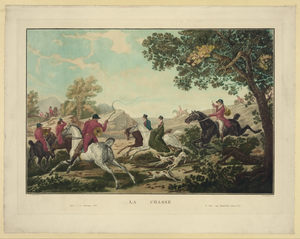 Hunting On Horses Image