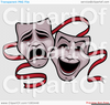 Comedy And Tragedy Mask Clipart Image