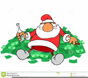 Santa With Money Clipart Free Images At Clker Com Vector