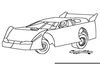 Dirt Race Car Clipart Image