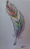 Feather Drawing Tumblr Image
