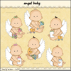 Boy Angel Babies Clipart Image