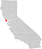California County Map Marin County Highlighted Clip Art