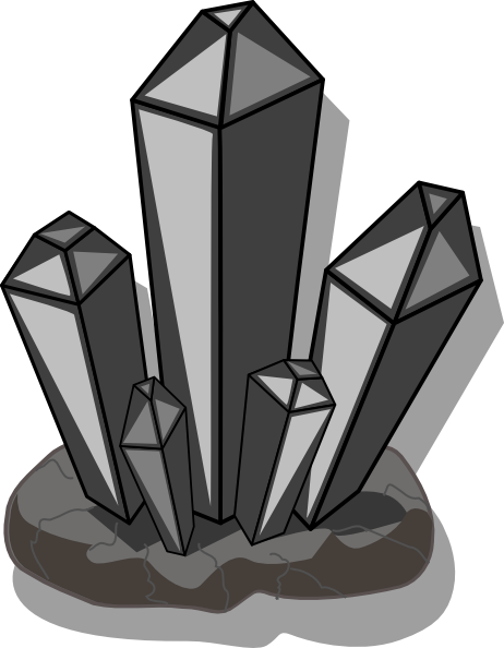 Grey Scale Quartz Clip Art at Clker.com - vector clip art ... Quartz Clipart
