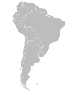 Blank Map Of South America Image