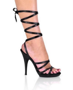 Stiletto Heel Strappy Lace Up Sandals Image