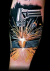 Welding Torch Tattoo Image