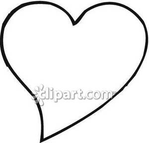 Simple Black And White Heart Royalty Free Clipart Picture Image