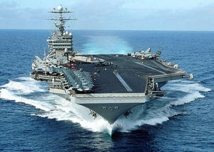 The Nuclear-powered Aircraft Carrier Uss George Washington (cvn 73) Transits The Atlantic Ocean Image