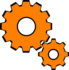 Orange Cogs Clip Art