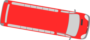 Red Bus - 350 Clip Art