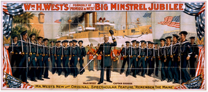 Wm. H. West S Big Minstrel Jubilee (formerly Of Primrose & West). Image